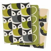 A6 MINI NOTEBOOKS - SET OF 3, BIRDS