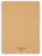 Soft Ring notebook - Natural, lined