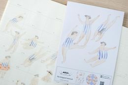 Dodolulu | The Striped Swimsuit- Sticker Sheet