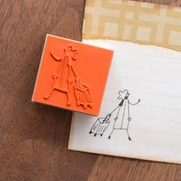Shuzi Orishige | Rubber Stamp [monokoto jin with a suitcase]