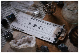 LCN | Records of the Moon metal stamp 75mm x 30mm