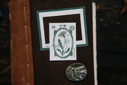 OURS Letterpress In the Garden Postal Stamp
