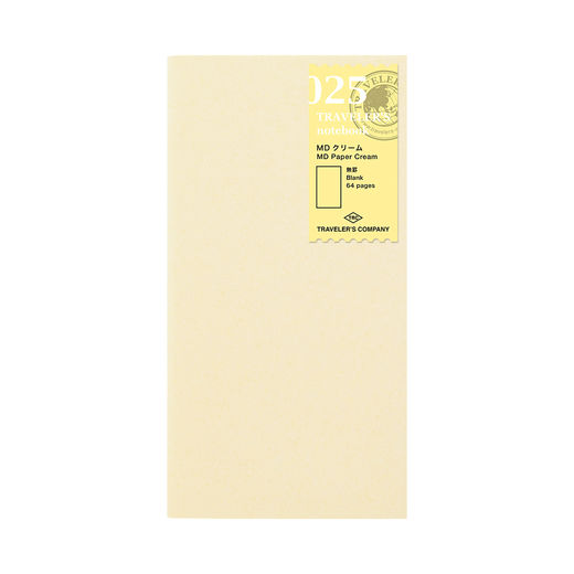 Traveler's Notebook | 025 MD Paper Cream Refill Regular Size