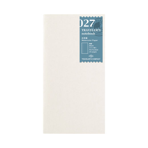Traveler's Notebook | 027 Watercolor Paper Refill Regular Size