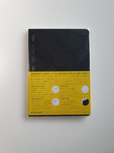 A6 Stálogy ½ Year Notebook Black