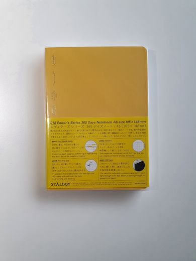 A6 Stálogy 365 Days Notebook Yellow