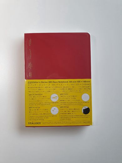 A6 Stálogy 365 Days Notebook Red
