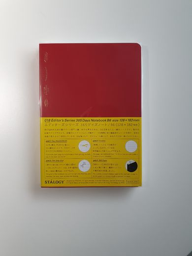 B6 Stálogy 365 Days Notebook Red