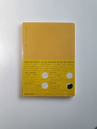 B6 Stálogy ½ Year Notebook Yellow