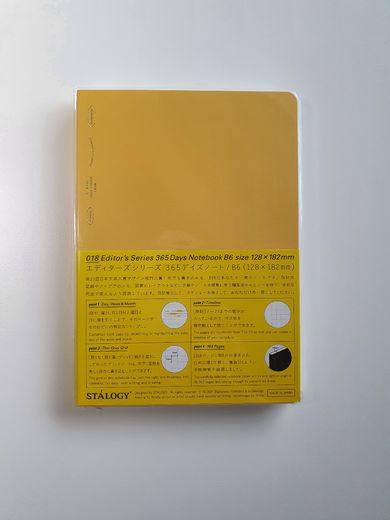 B6 Stálogy 365 Days Notebook Yellow