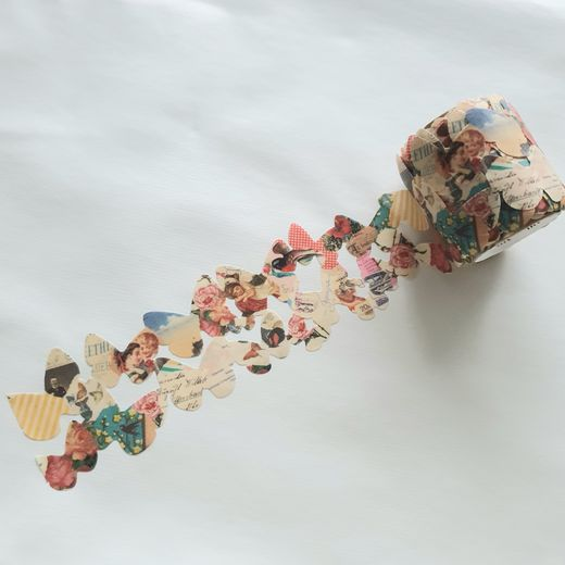 MT Masking Tape Die-Cut Retro Paper Butterfly