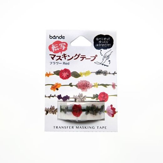 Bande | Transfer Masking Tape BDA510 Flower Garland Red