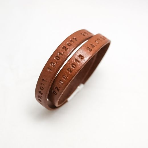 Bracelet Puro in Cognac Brown