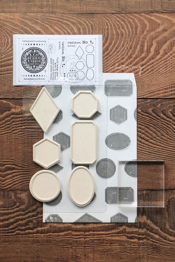 LCN| Outline Mounted Rubber Stamps No. 1