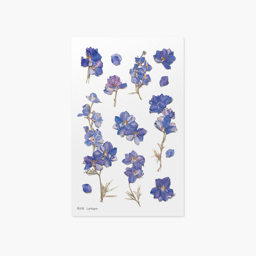 Appree | Pressed Flower Sticker Sheet: Larkspur