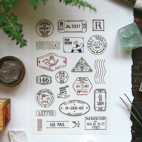 OURS Postmark Print-on Sticker