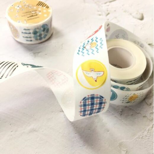 PREORDER: Pion | Round Washi Sticker Roll
