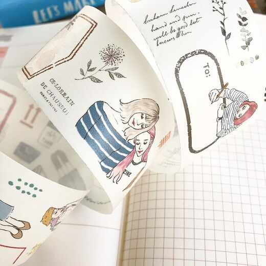 PREORDER: Pion | Girl Label Washi Tape