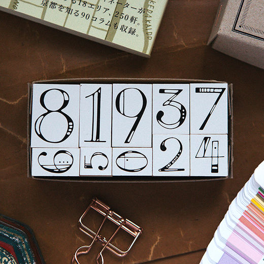 OURS Numbers DIY Stamp Set