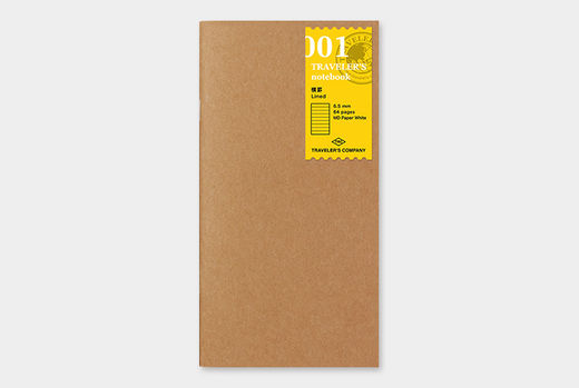 Traveler's Notebook | 001 Lined Notebook Refill Regular Size