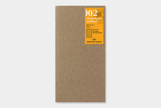 Traveler's Notebook | 002 Grid Notebook Refill Regular Size