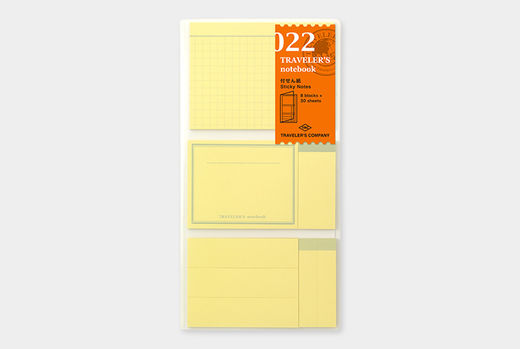 Traveler's Notebook | 022 Sticky Notes Regular Size
