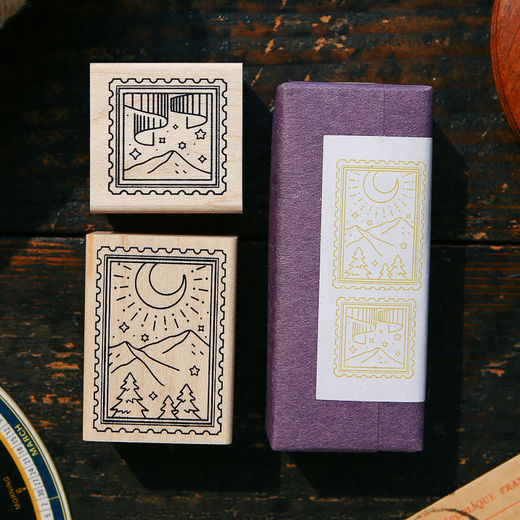OURS Starry Night Rubber Stamp Set